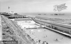 Lee On The Solent, The Bathing Pool c.1960, Lee-on-The-Solent