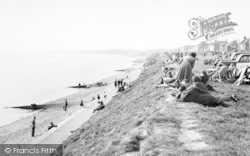 Lee On The Solent, The Beach And Cliffs c.1960, Lee-on-The-Solent