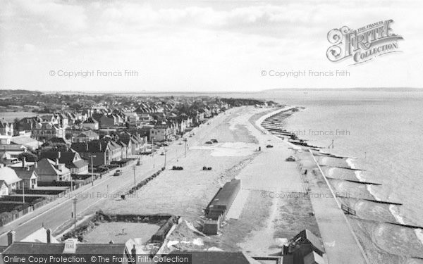 Photo of Lee On The Solent, The Beach Looking East From The Tower c.1960