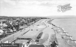 Lee On The Solent, The Beach Looking East From The Tower c.1960, Lee-on-The-Solent