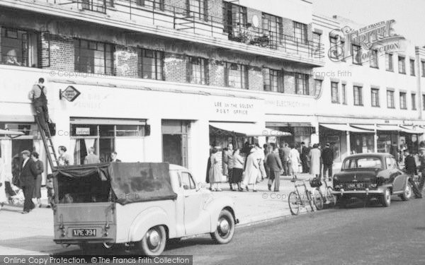 Photo of Lee On The Solent, The Parade, Post Office And Shops c.1955