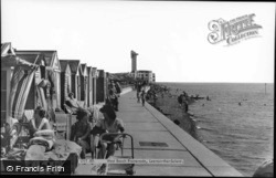 Lee On The Solent, West Beach Promenade c.1960, Lee-on-The-Solent
