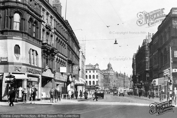 Photo of Leeds, Boar Lane c.1955