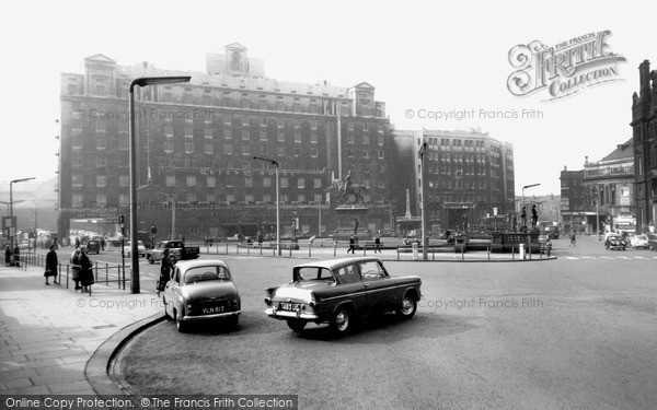 Photo of Leeds, City Square And Queens Hotel c.1965