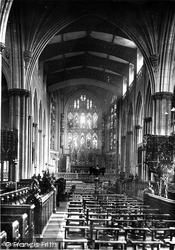 Leeds, Parish Church Interior 1888