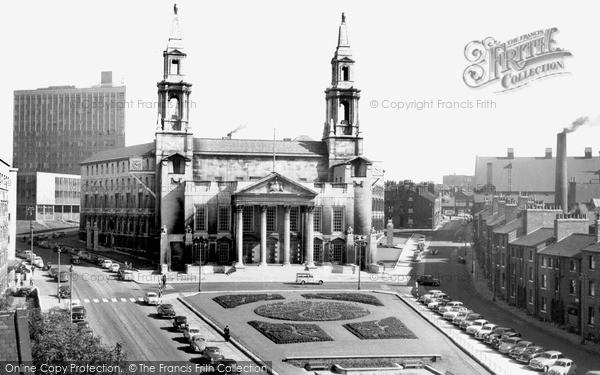 Photo of Leeds, The Civic Hall, Calverley Street c.1965