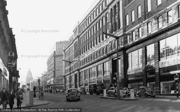 Photo of Leeds, The Headrow c.1965