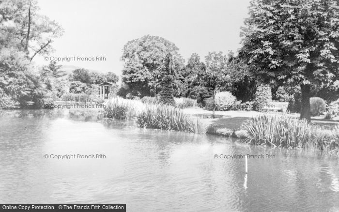 Photo of Leek, Brough Park Fishpond c.1955