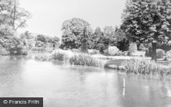 Leek, Brough Park Fishpond c.1955