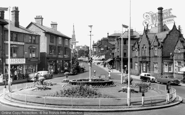 Photo of Leek, Derby Street c.1955