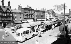 Leek, Market Place 1959