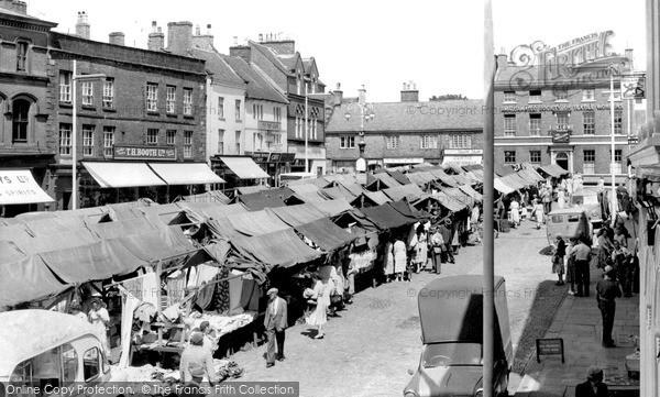 Leek, Market Place c1955