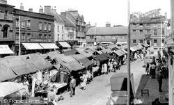 Leek, Market Place c.1955