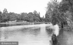 Leicester, Boating Lake, Abbey Park c.1955