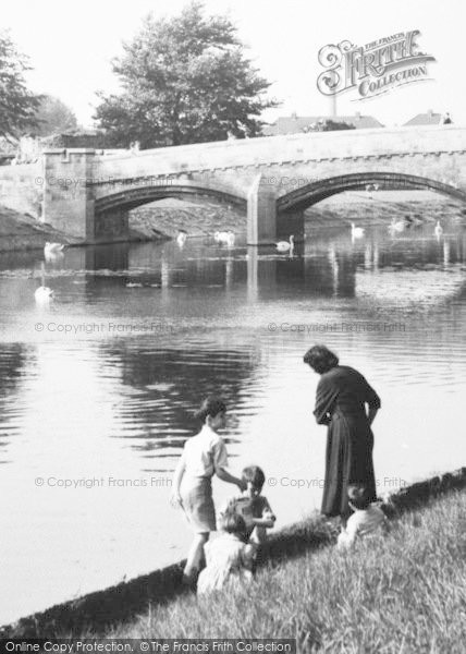 Photo of Leicester, By The River Soar c.1955