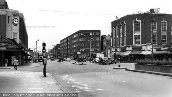 Photo of Leicester, Charles Street c.1955