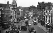 Leicester, Clock Tower And Belgrave Gate 1949