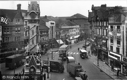 Clock Tower And Belgrave Gate 1949, Leicester