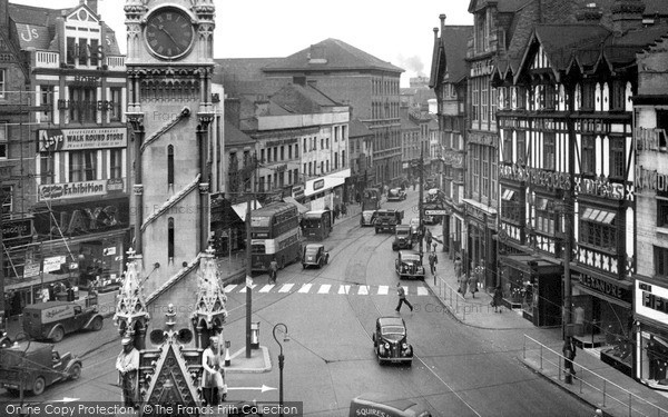 Photo of Leicester, Clock Tower And Belgrave Gate c.1955