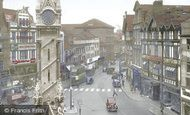Leicester, Clock Tower And Belgrave Gate c.1955