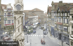 Clock Tower And Belgrave Gate c.1955, Leicester