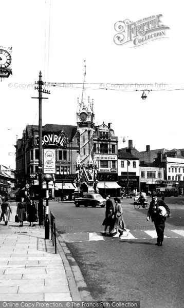 Photo of Leicester, Clock Tower, City Centre c.1955
