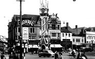 Leicester, Clock Tower, City Centre c.1955