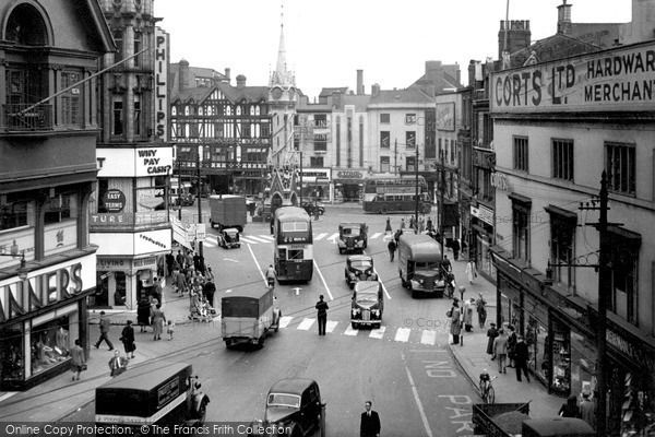 Leicester Eastgates And Clock Tower C 1950 Francis Frith