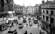 Leicester, Eastgates And Clock Tower c.1950