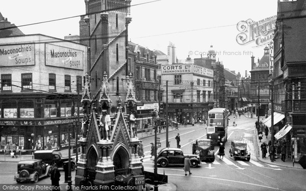 Photo of Leicester, Eastgates And Clock Tower c.1950