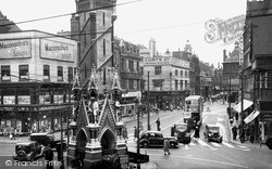 Eastgates And Clock Tower c.1950, Leicester