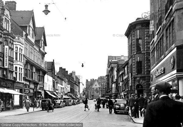 Photo of Leicester, Granby Street 1949