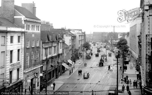 Leicester, Humberstone Gate c1955