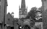 Leicester, Prince Rupert's Gateway And St Mary De Castro Church c.1955
