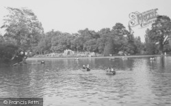 Leicester, Rowing On The Lake, Abbey Park c.1955