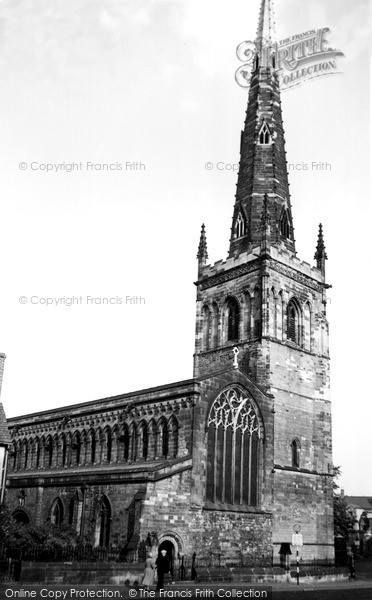 Photo of Leicester, St Mary De Castro Church c.1955