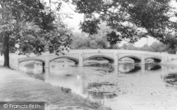 Leicester, The Bridge And River, Abbey Park c.1955