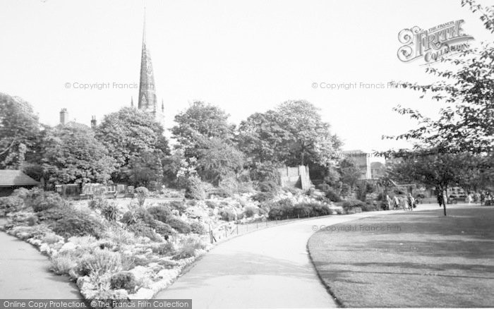 Photo of Leicester, The Castle Grounds c.1955