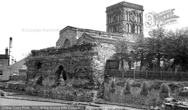 Photo of Leicester, The Church Of St Nicholas And The Jewry Wall c.1955