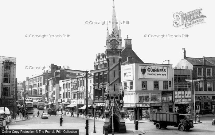 Photo of Leicester, The Clock Tower And Gallowtree Gate c.1965