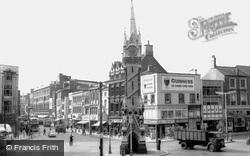 The Clock Tower And Gallowtree Gate c.1965, Leicester
