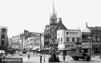 Leicester, the Clock Tower and Gallowtree Gate c1965