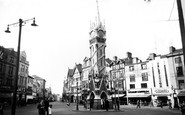 Leicester, The Clock Tower c.1955