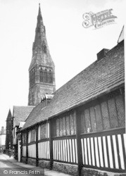 Leicester, The Guildhall And St Martin's Cathedral c.1955