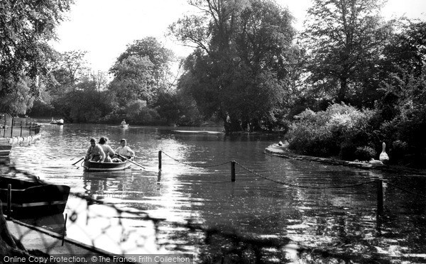 Photo of Leicester, The Lake, Abbey Park c.1955