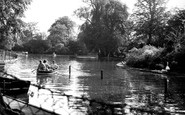 Leicester, The Lake, Abbey Park c.1955