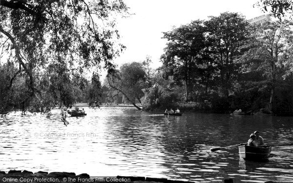 Photo of Leicester, The Lake c.1955
