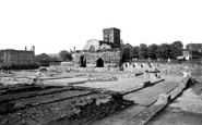 Leicester, The Roman Remains And Jewry Wall c.1955
