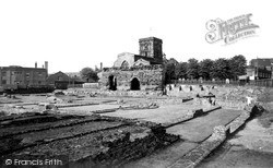 The Roman Remains And Jewry Wall c.1955, Leicester