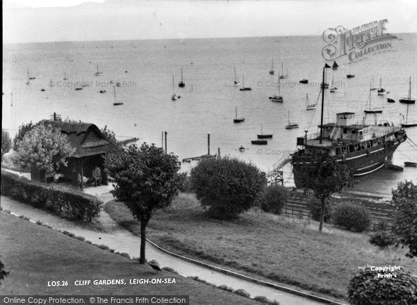 Photo of Leigh On Sea, Cliff Gardens c.1955